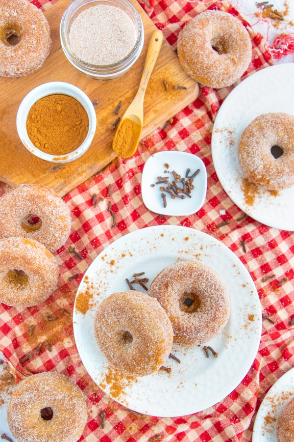 Cinnamon Apple Donuts Vegan