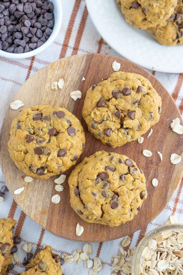 Pumpkin Oatmeal Cookies Vegan
