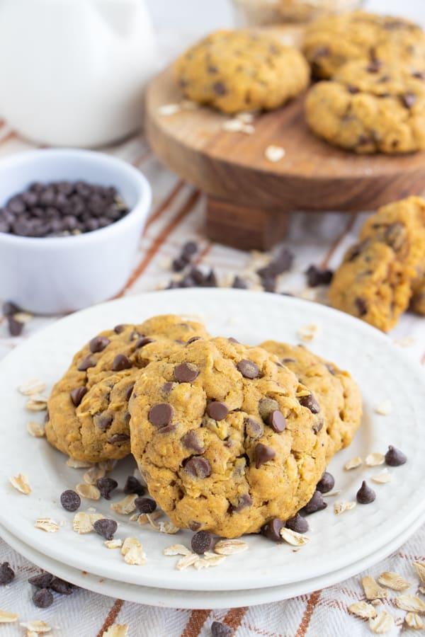 Vegan Pumpkin Cookies Chocolate Chip