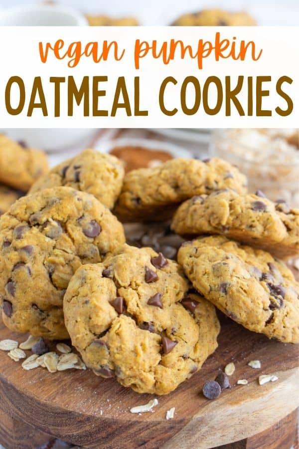 Pumpkin Chocolate Oat Cookies