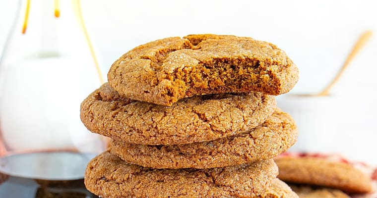 Chewy Vegan Molasses Cookies Recipe