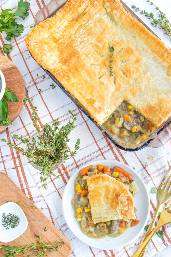 Vegetarian Pot Pie Puff Pastry