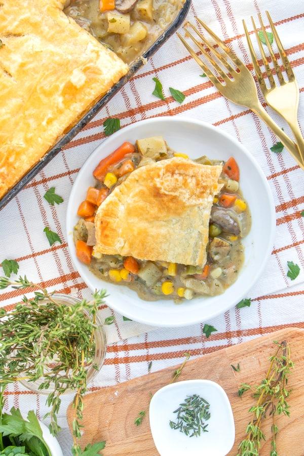 How to Make Vegetarian Pot Pie