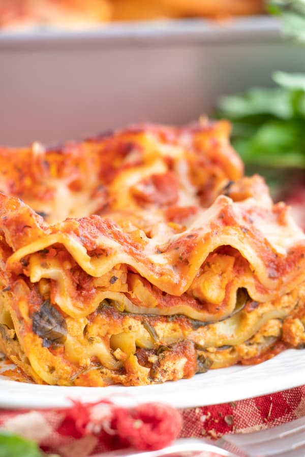 Vegan Lasagna Spinach