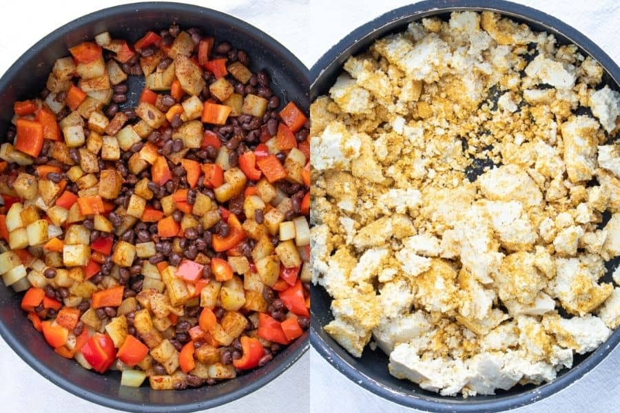 Tofu Potato Breakfast Burrito