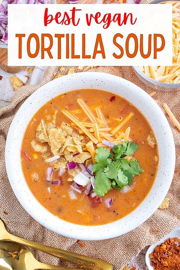 Easy Vegan Tortilla Southwest Soup