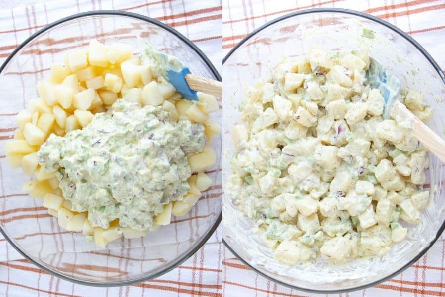 Vegan Potato Salad Dill