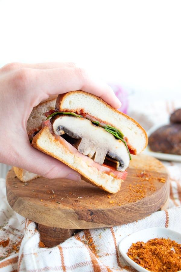 How to Cook Portobello Mushrooms Burger