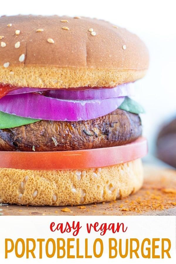 Vegan Portobello Burger Recipe
