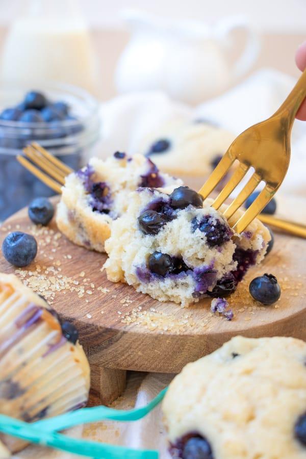 Easy Vegan Blueberry Muffins
