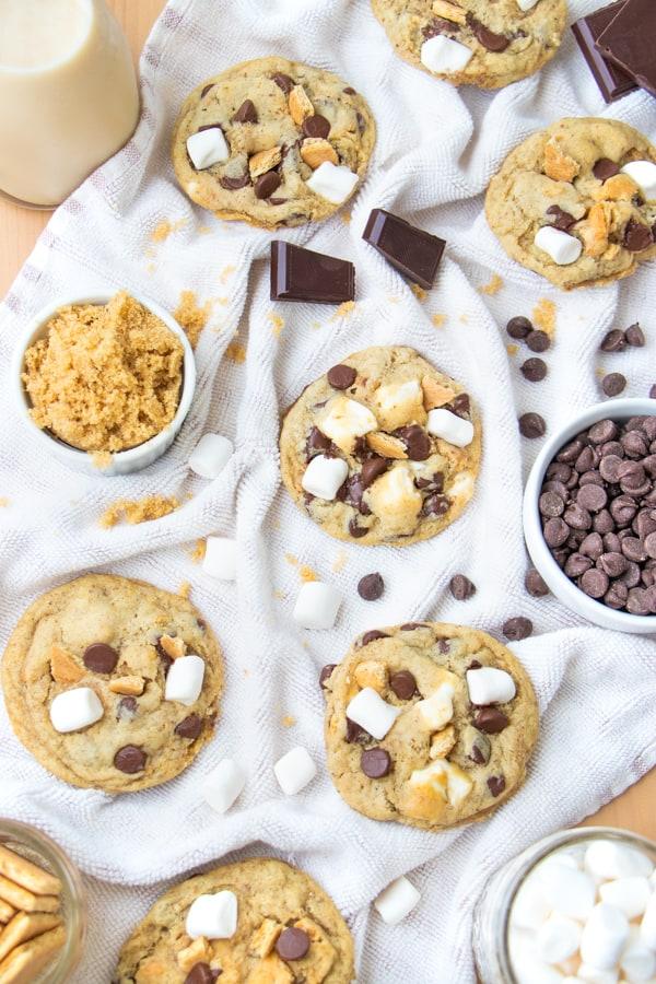Vegan Smores Cookies