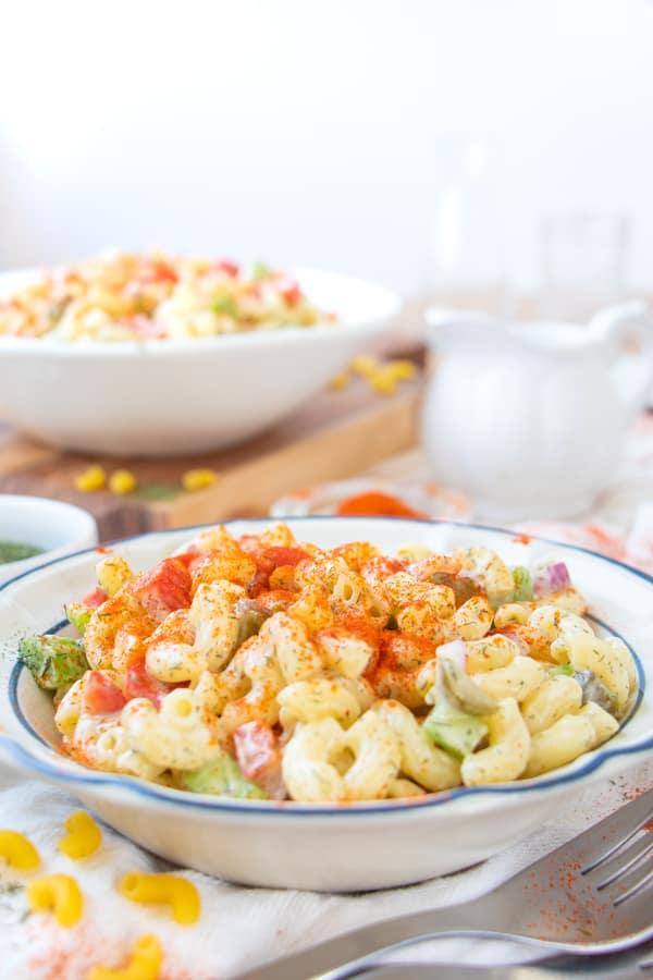Vegetarian Macaroni Salad