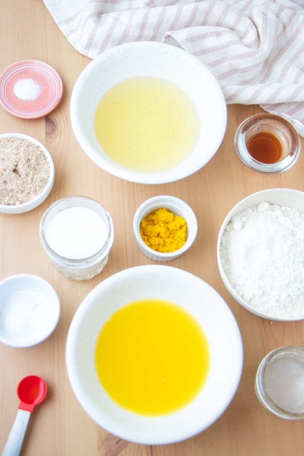 Vegan Olive Oil Cake Ingredients