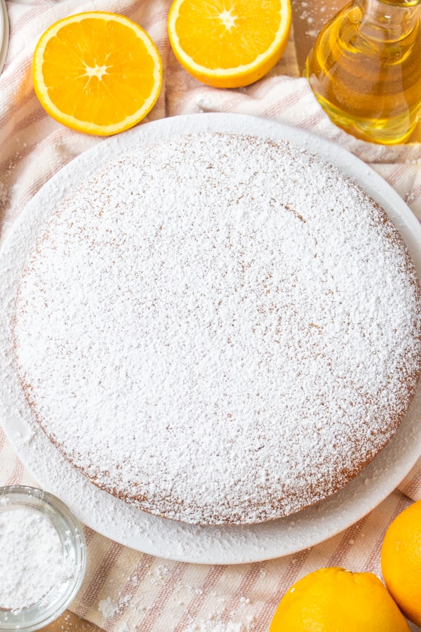 Baking Cake with Olive Oil
