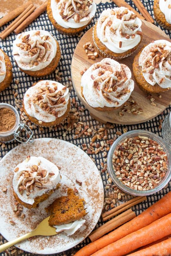Vegan Carrot Cake Cupcakes Recipe
