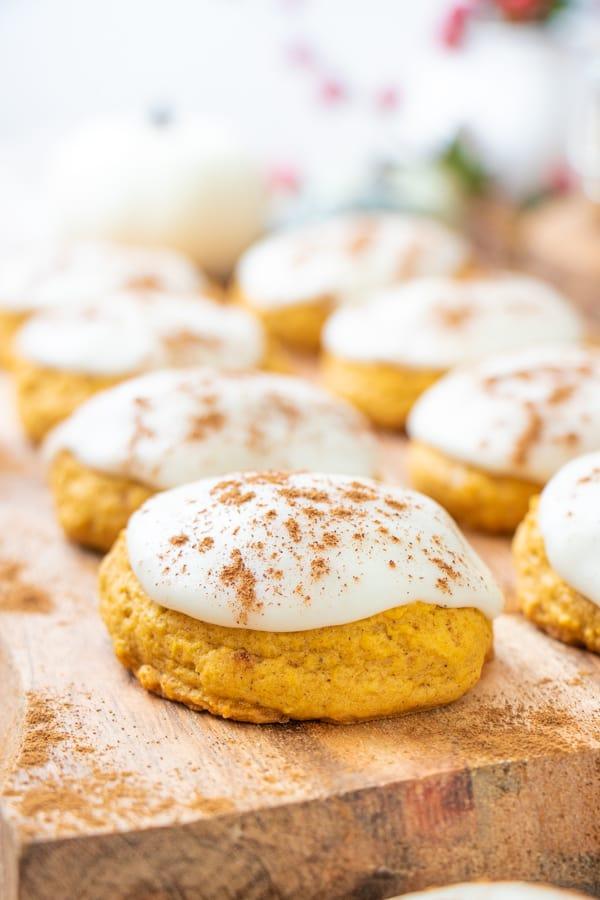 Vegan Pumpkin Sugar Cookies
